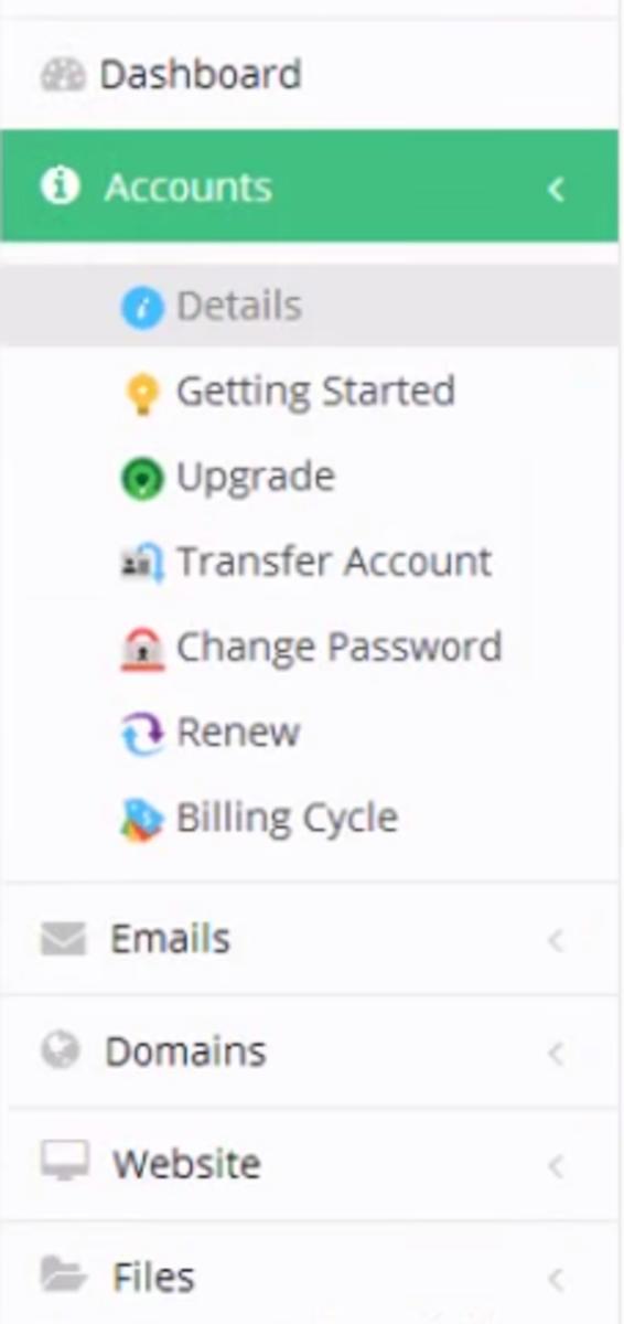 Hostinger account dashboard