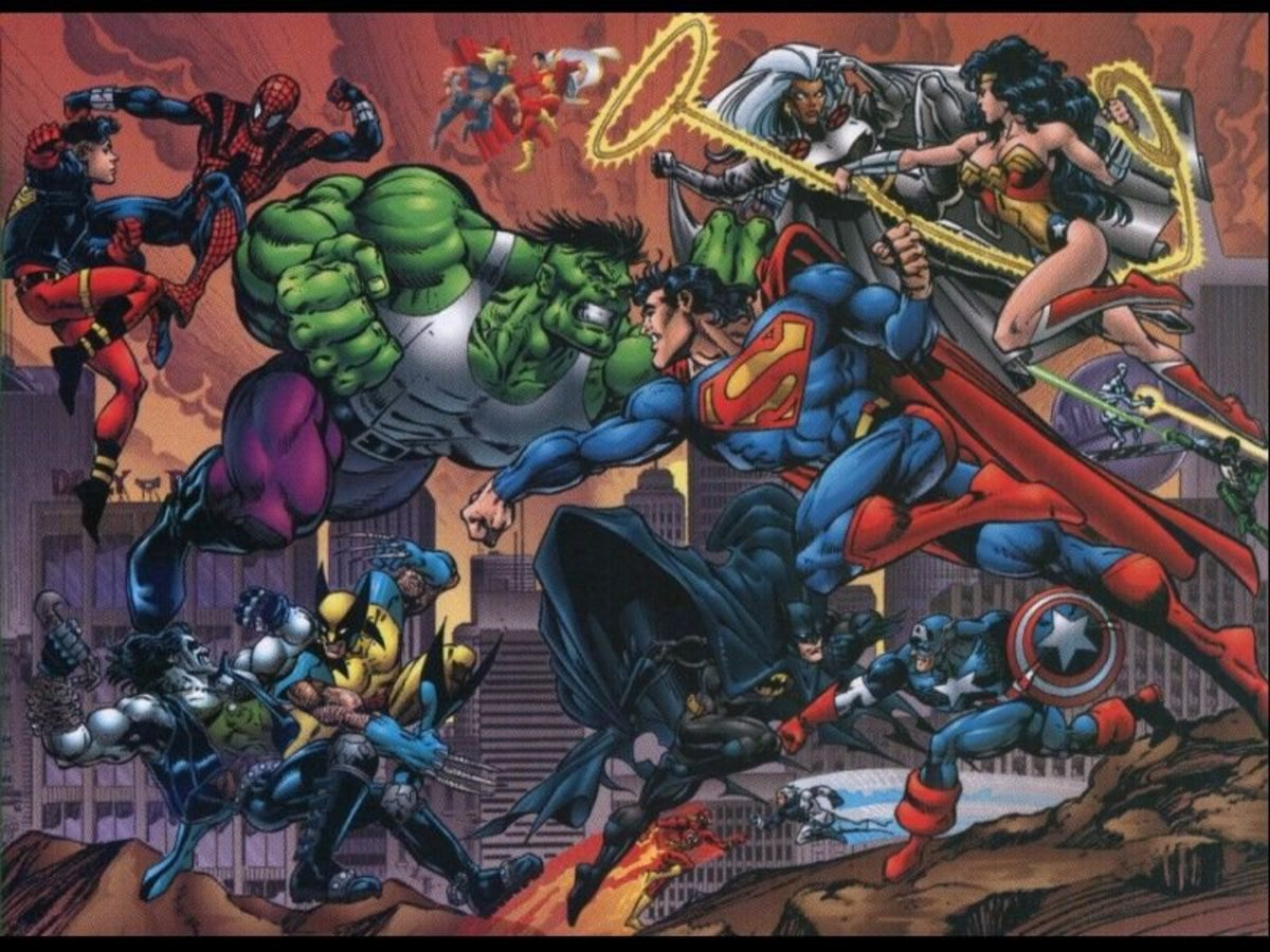 Superman vs Hulk battle
