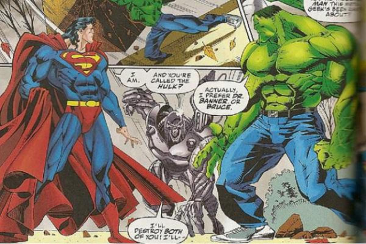 Superhero Battles - Superman Takes on the Hulk - Who Wins?