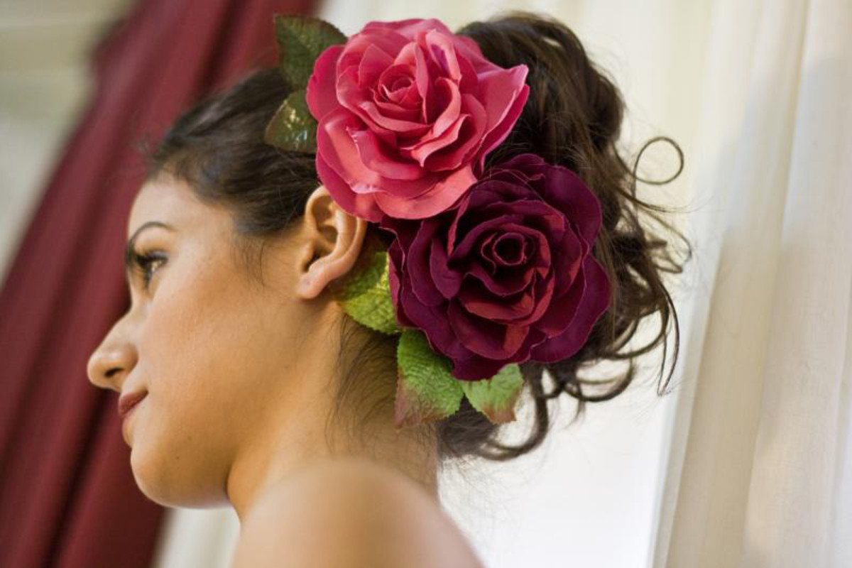 Large flower clips make a statement