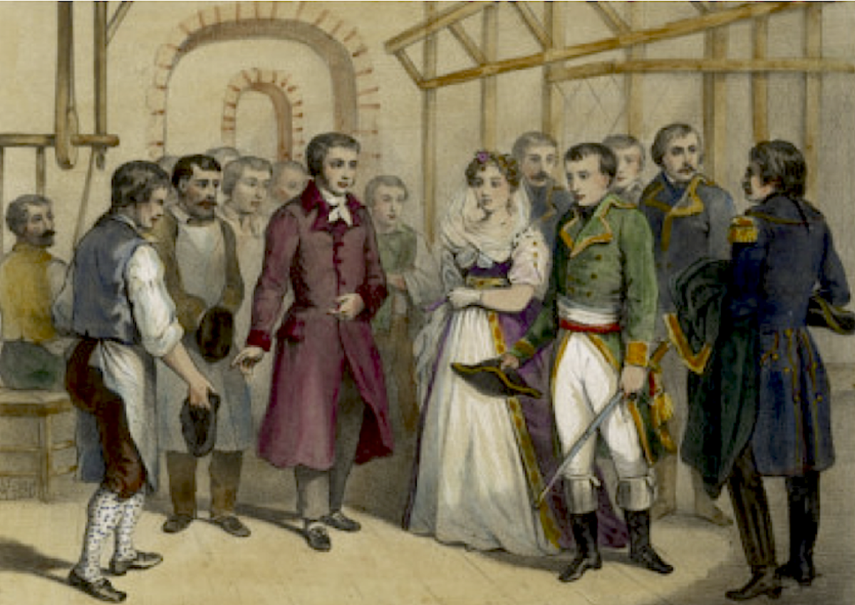 Napoleon and Josephine visit Jacquard in 1805
