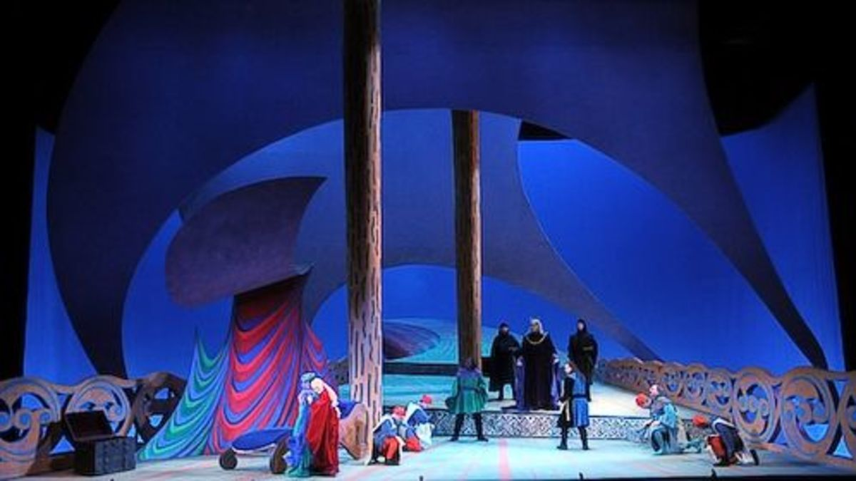 The opera Tristan and Isolde, set design by David Hockney