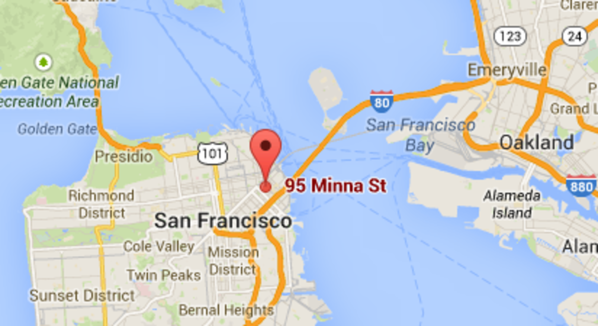 HubPages Inc. Office Location Map