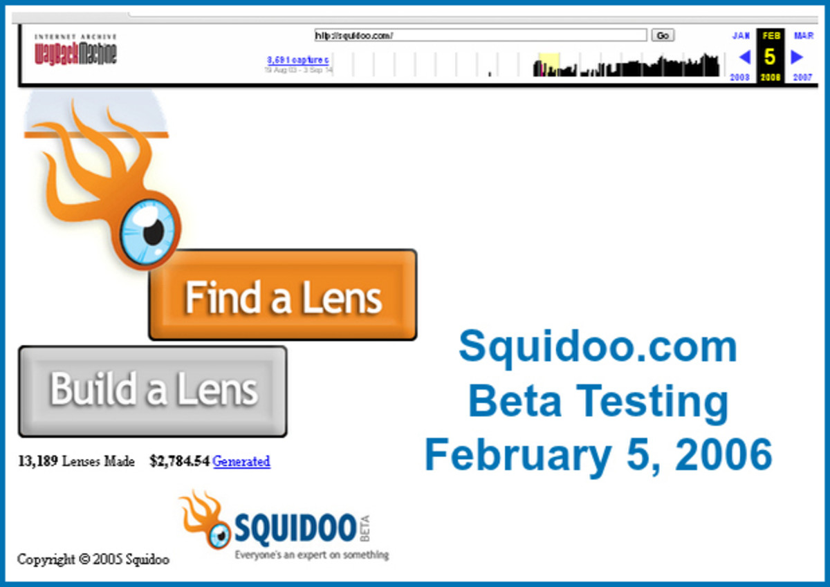 Squidoo.com Beta Test Homepage