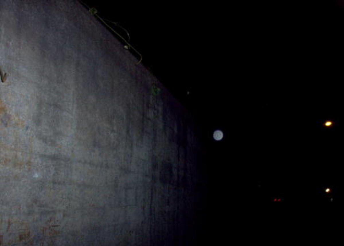 Orb captured where the walking ghosts roams.