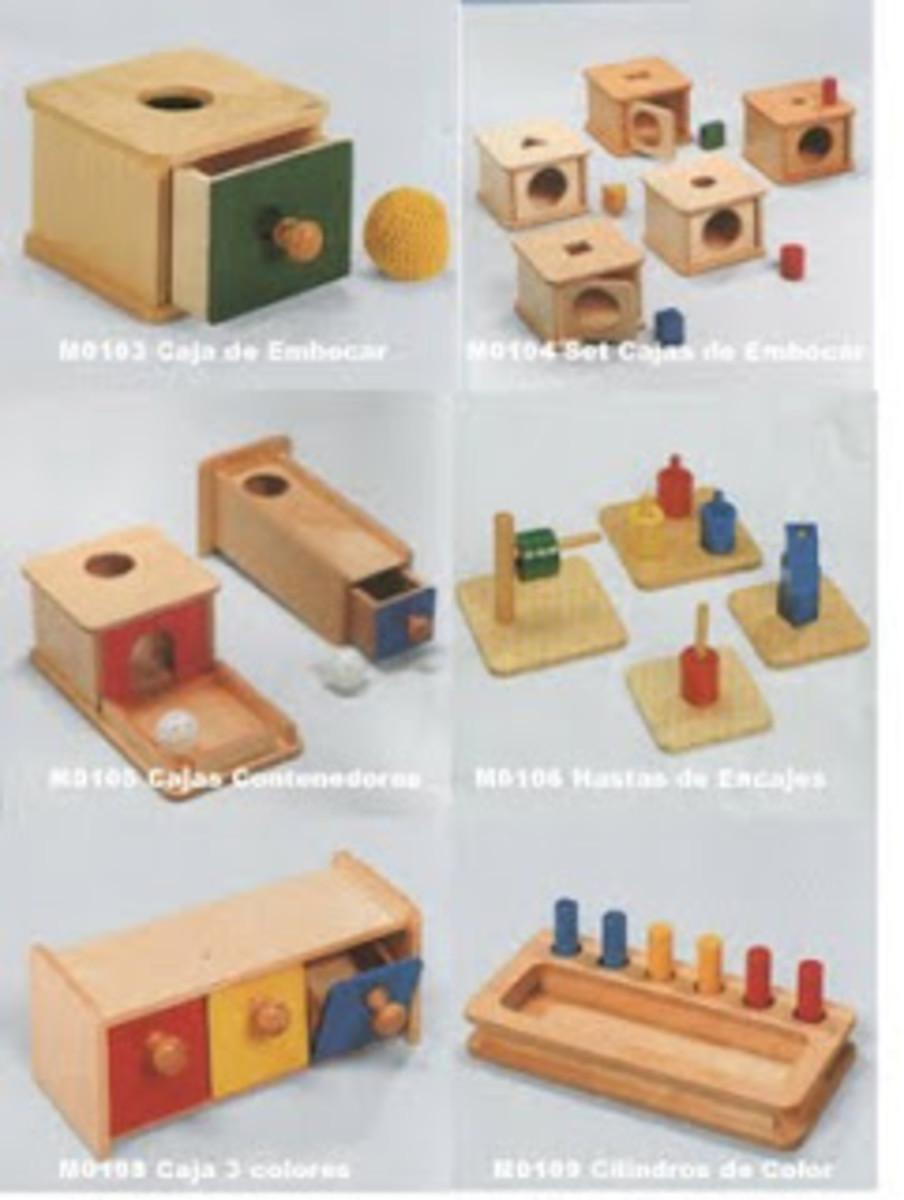 Manipulatives created for the Montessori Method of teaching.