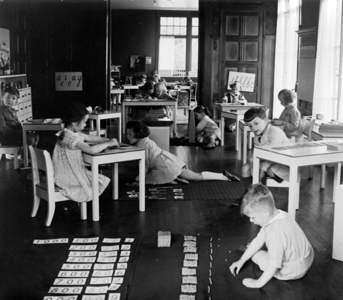 Maria Montessori advocated for classroom furniture to fit the size of her pupils.