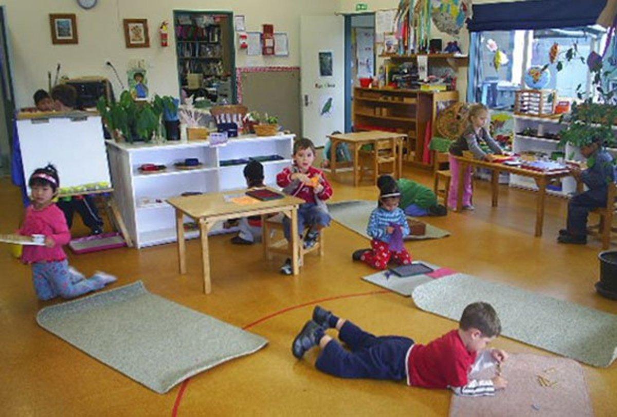 A modern Montessori classroom.