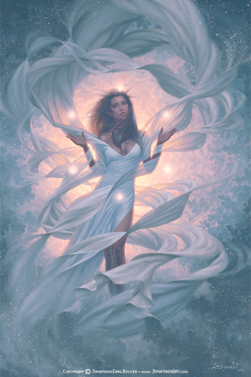 Art inspired by Azna, Mother God