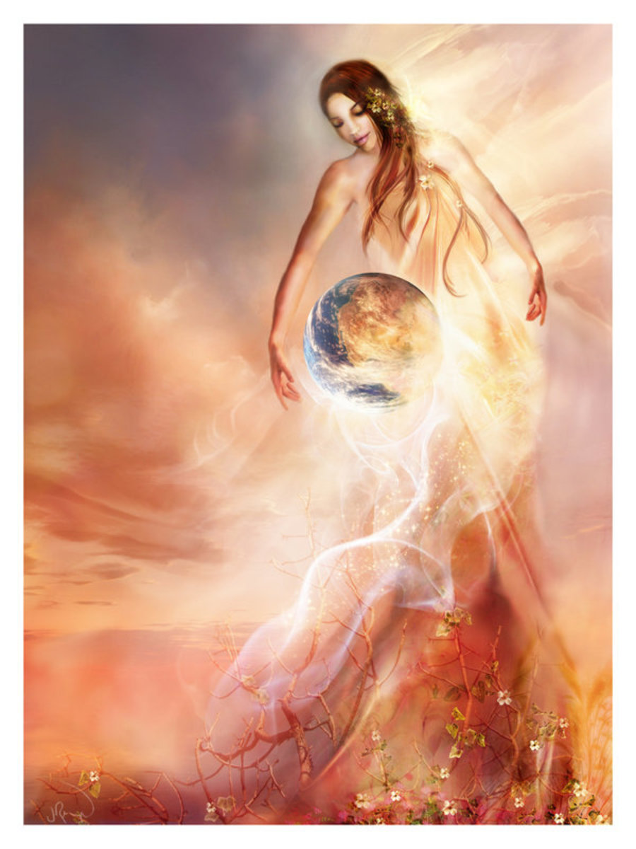 Mother God Azna Art by Jennifer Reagles