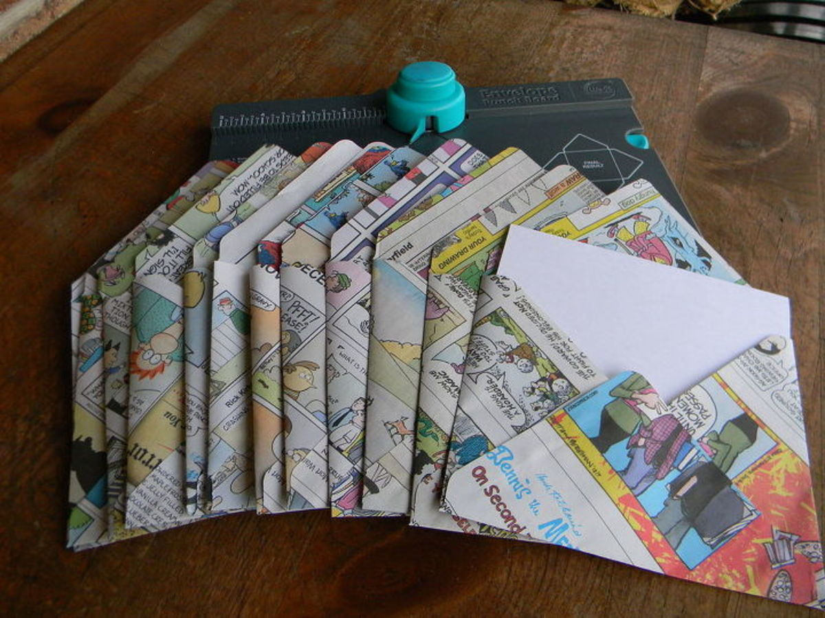 Have you ever considered making envelopes with newspapers? Here are the directions for making these colorful envelopes.