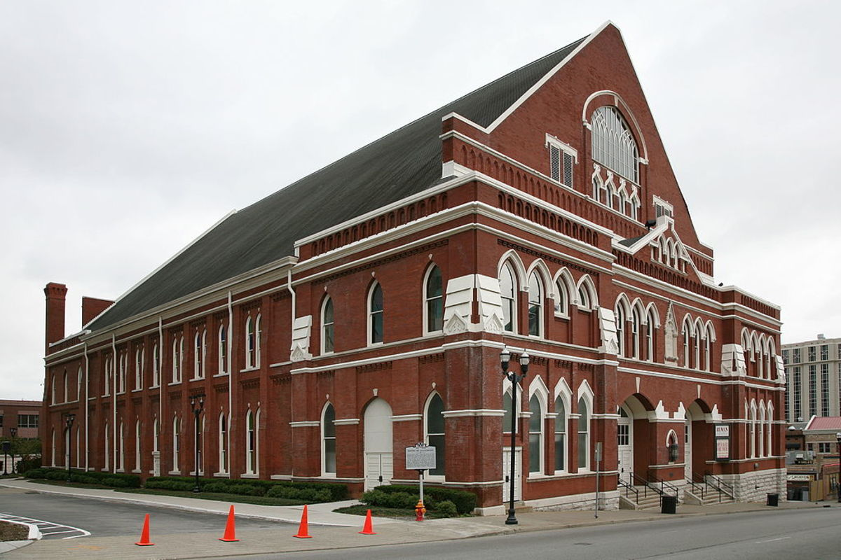 "Ryman Auditorium- ""The Mother Church of Country Music"", and the home of the Grand Ole Opry from 1943 to 1974."