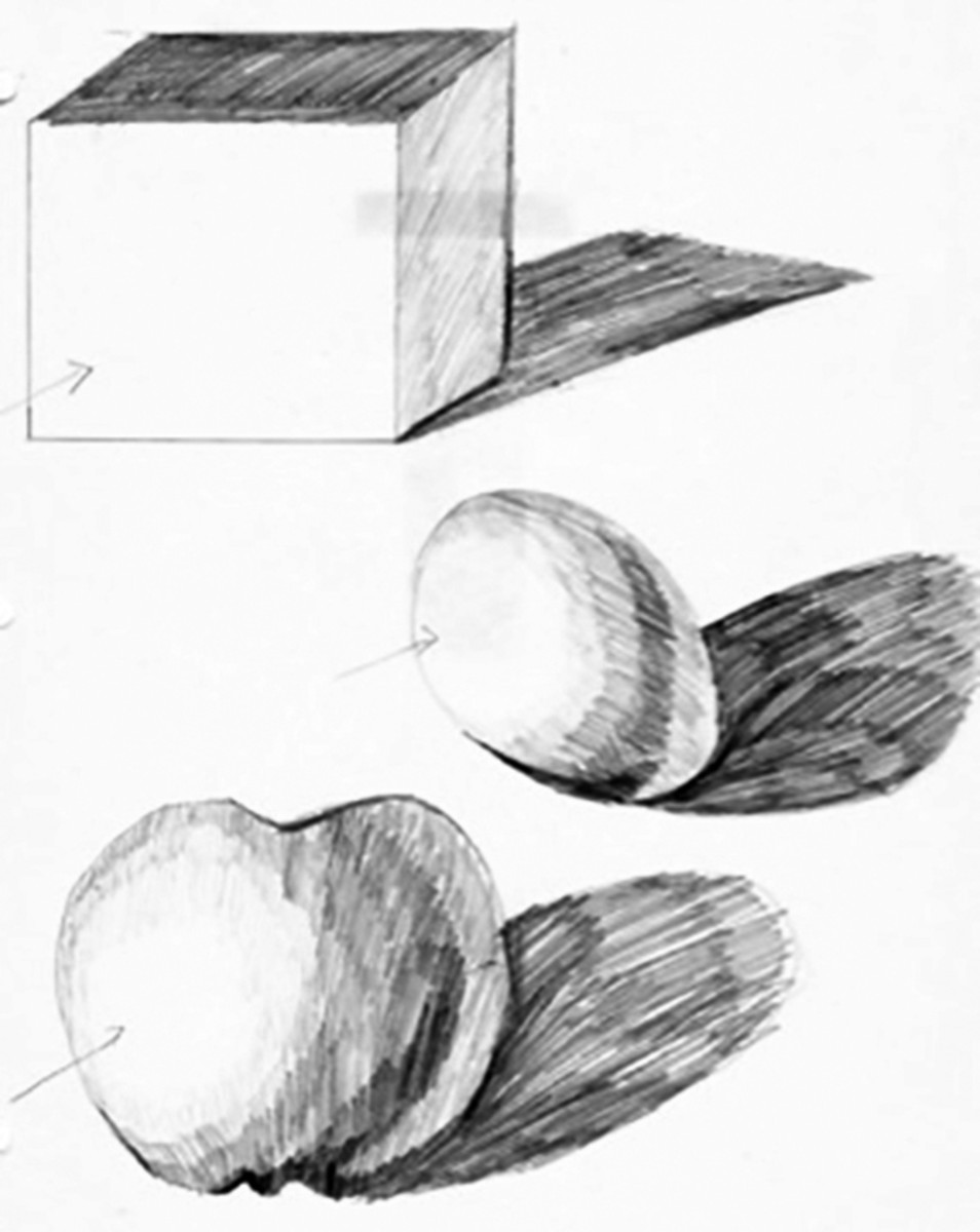 Shading means leaving space for reflected light.