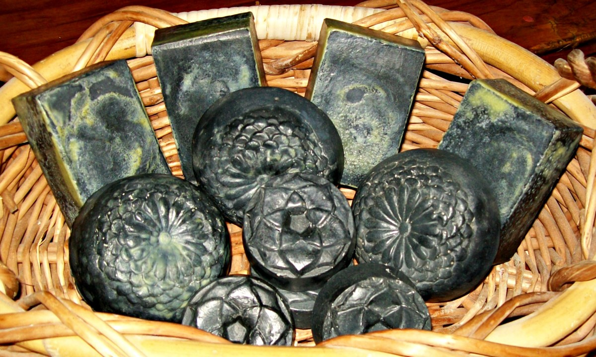 Homemade Black Soap Made with Activated Charcoal