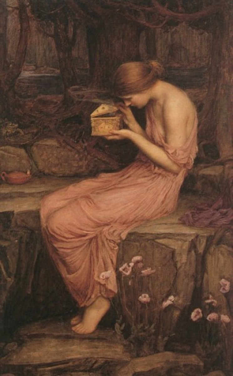Psyche Opening the Golden Box by John William Waterhouse (1903)