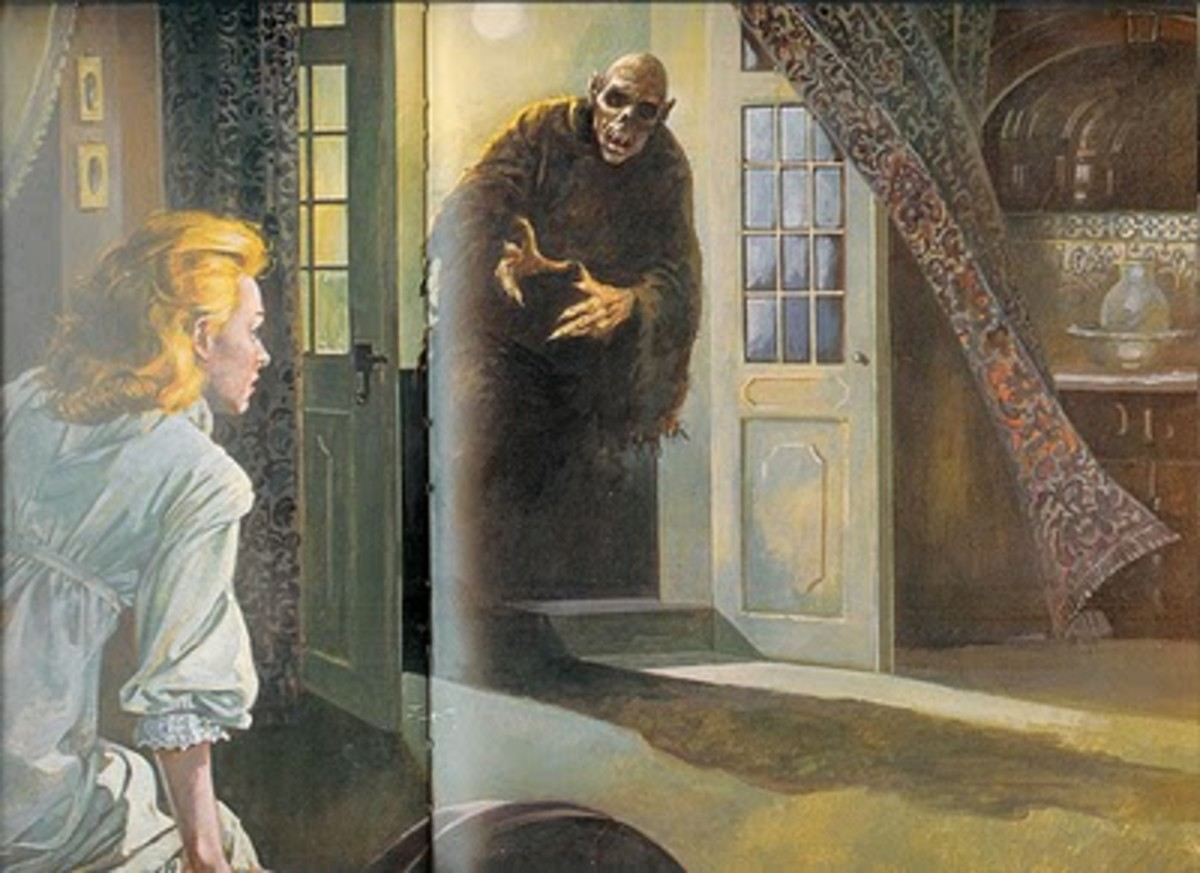Illustration of the Beast of Croglin Grange