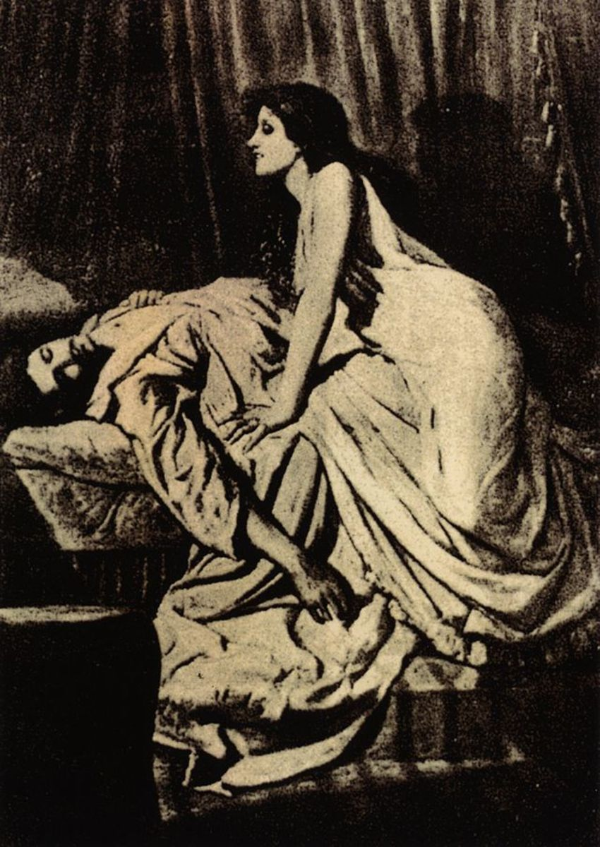 Le Vampire, by Philip Burne-Jones (1897)