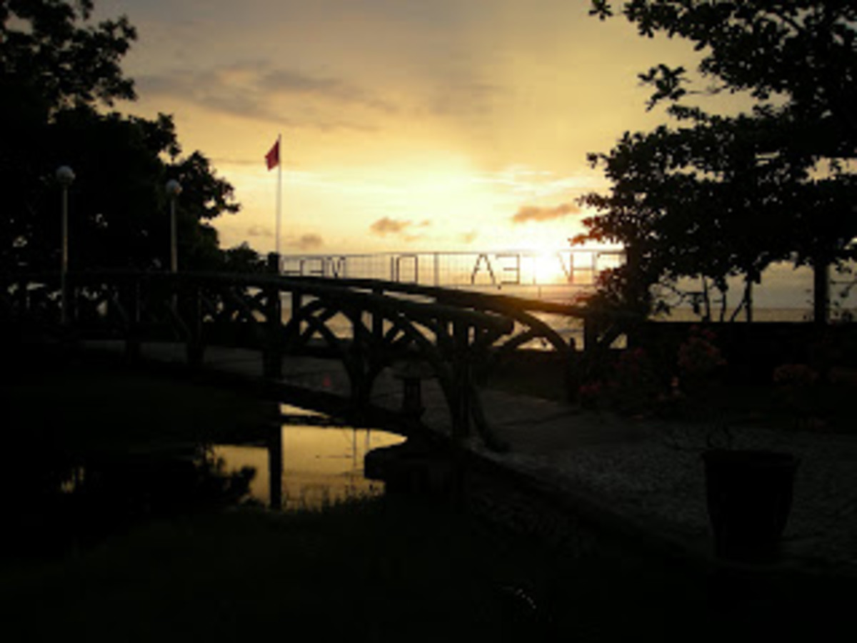 Sunset from the Balcony of the Chateau Du Mer Beach House, Marinduque, Philippines