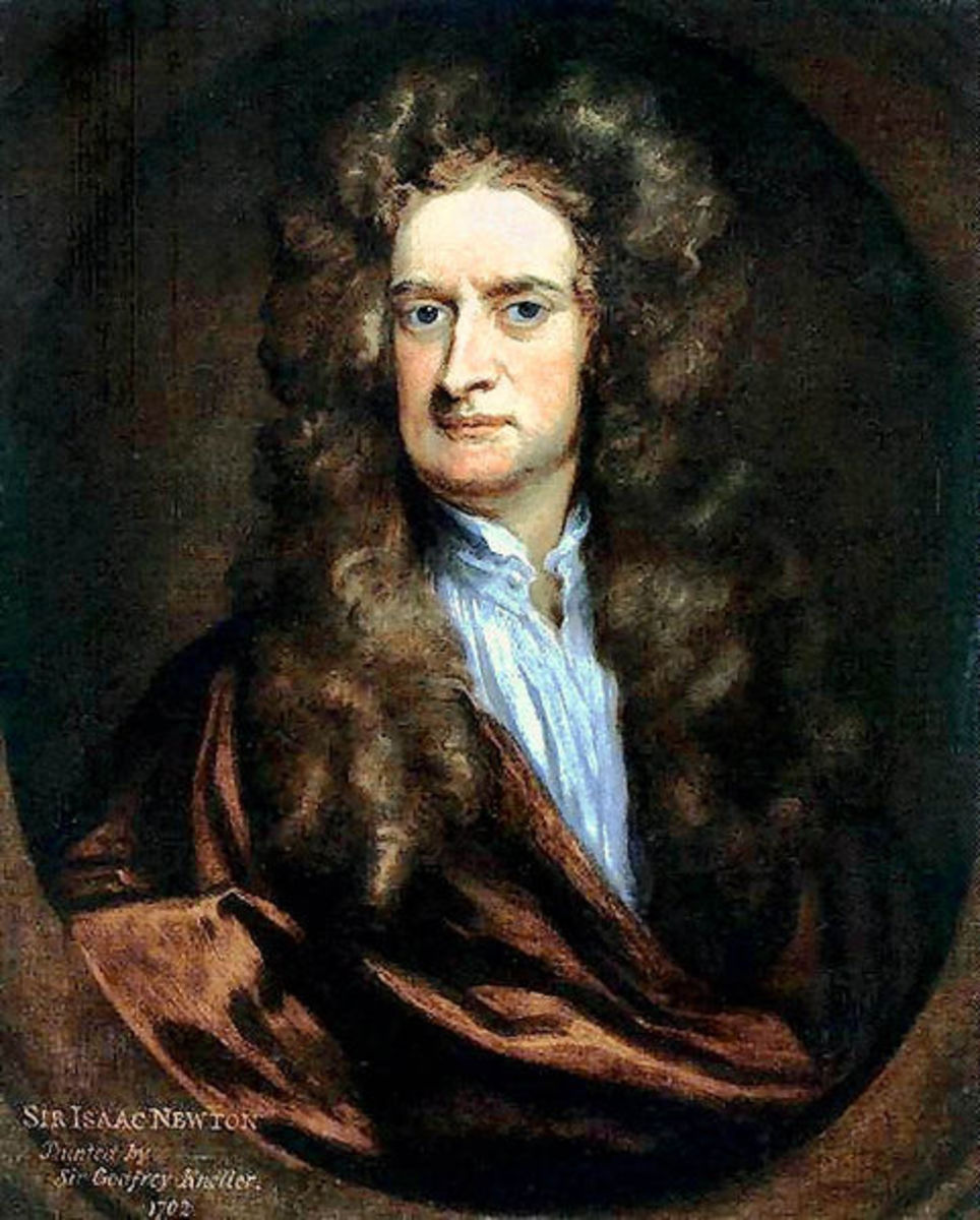Portrait of Sir Isaac Newton in 1702