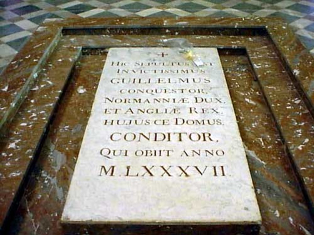 William the Conquerer's burial site in Caen, Normandy, France.