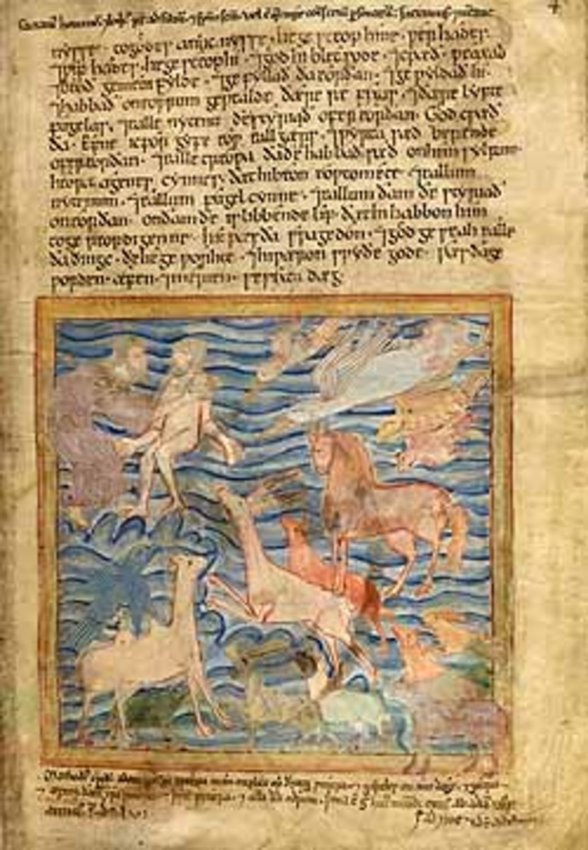 First of the six books of the Old Testament, the earliest text written in English. (c.11-12th century)