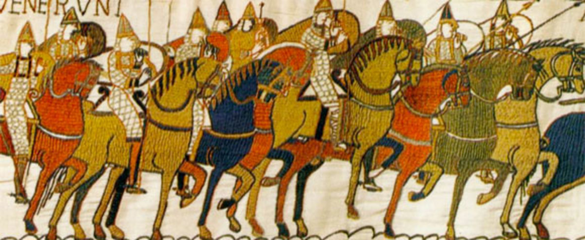 Bayeux Taprestry depicting the Norman invasion and conquest. (1066)