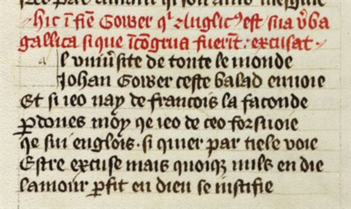 "Norman French text, ""Mirur,"" written by Robert of Gretham on moral advice of the conduct for nobles."
