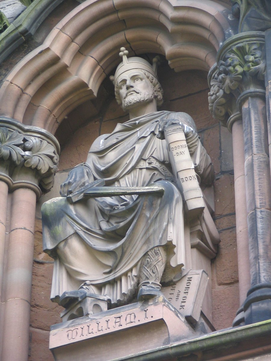 Statue of William the Conquerer who became William I of England.