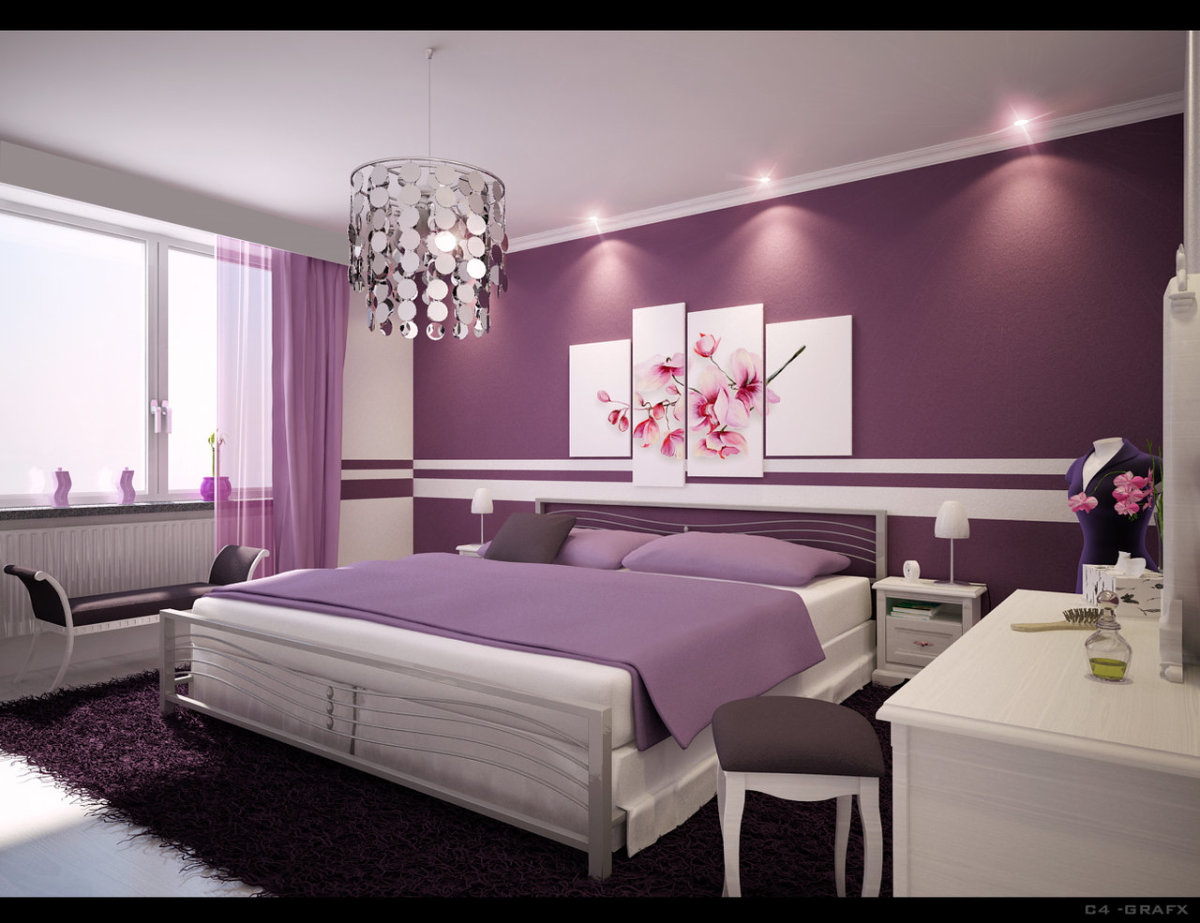 Purple girly bedroom