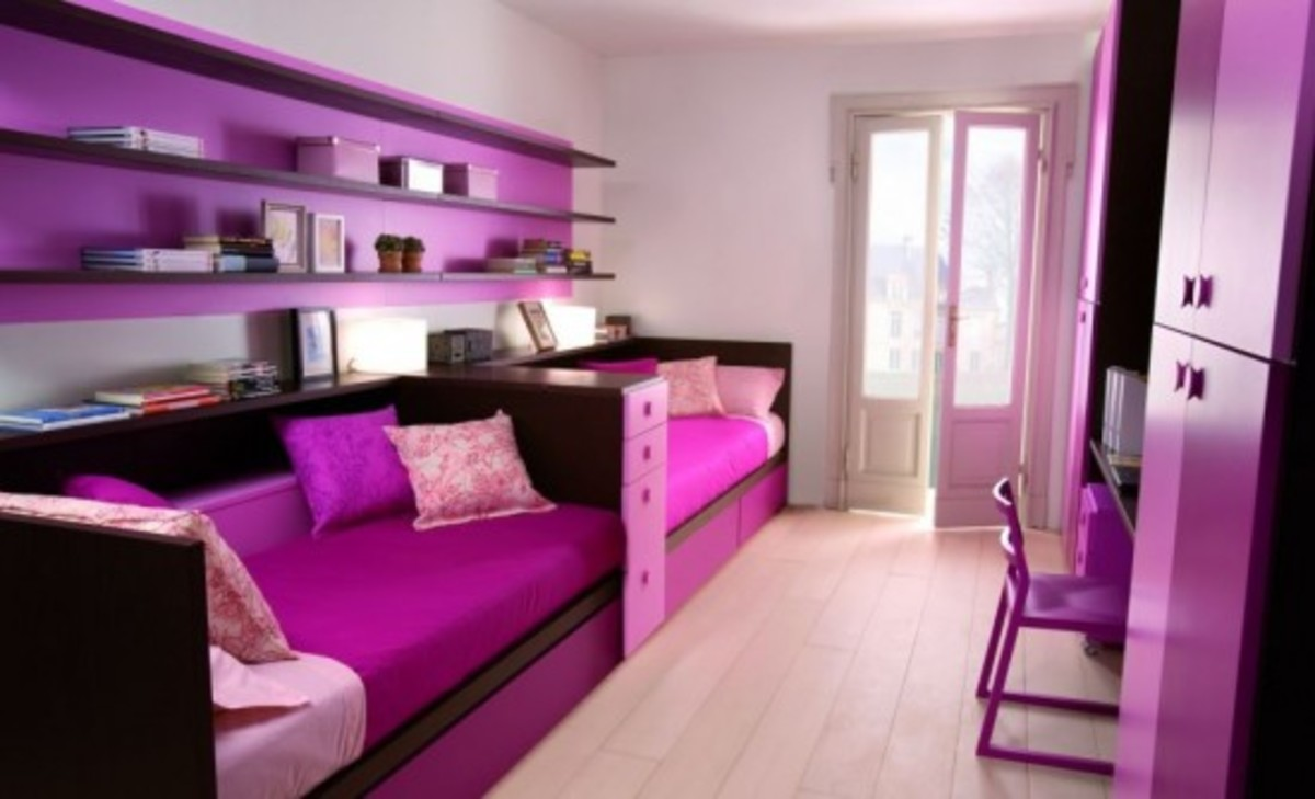 Hot pink teen bedroom