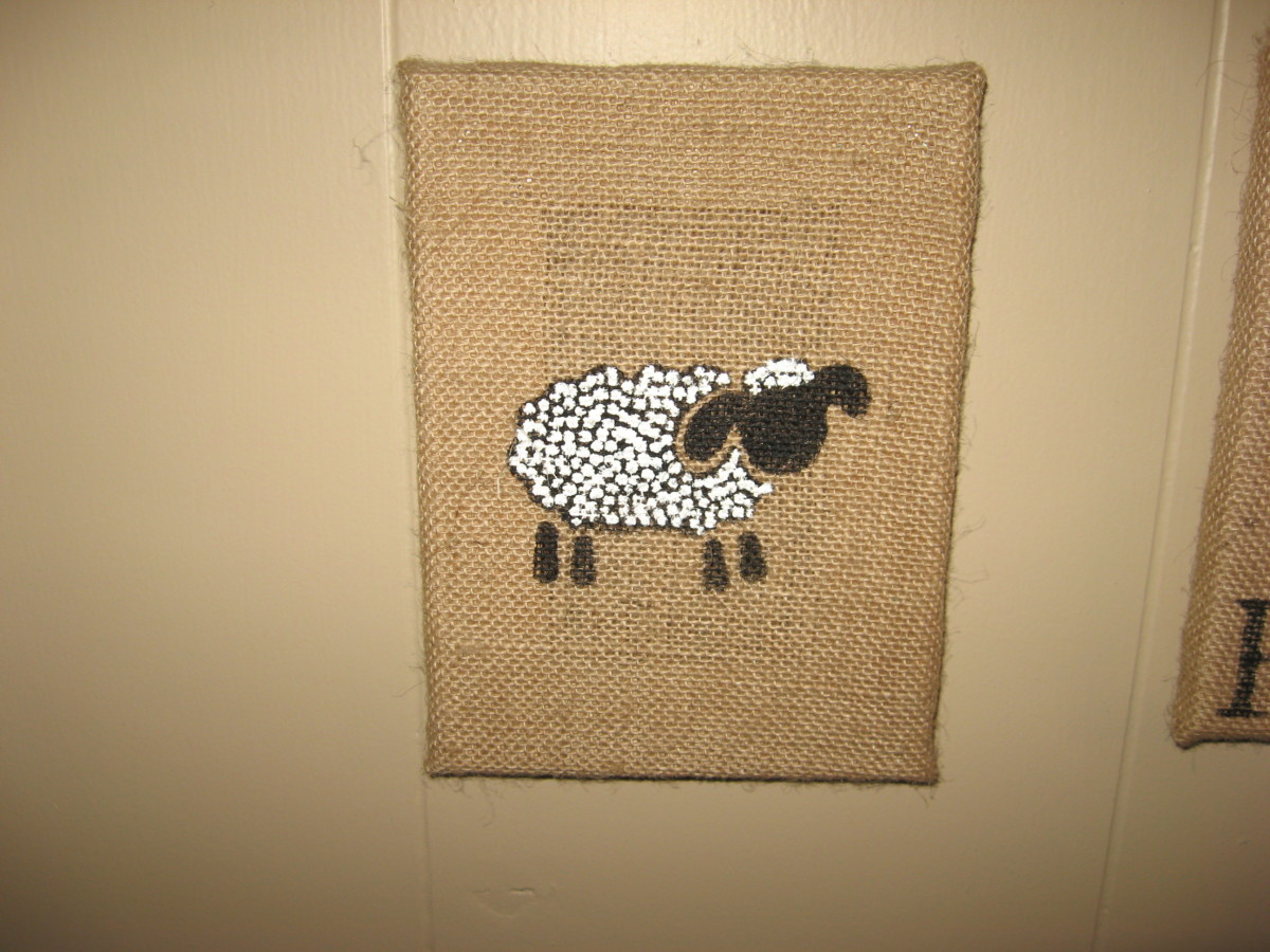 I added texture to the sheep with extra-thick white acrylic paint.