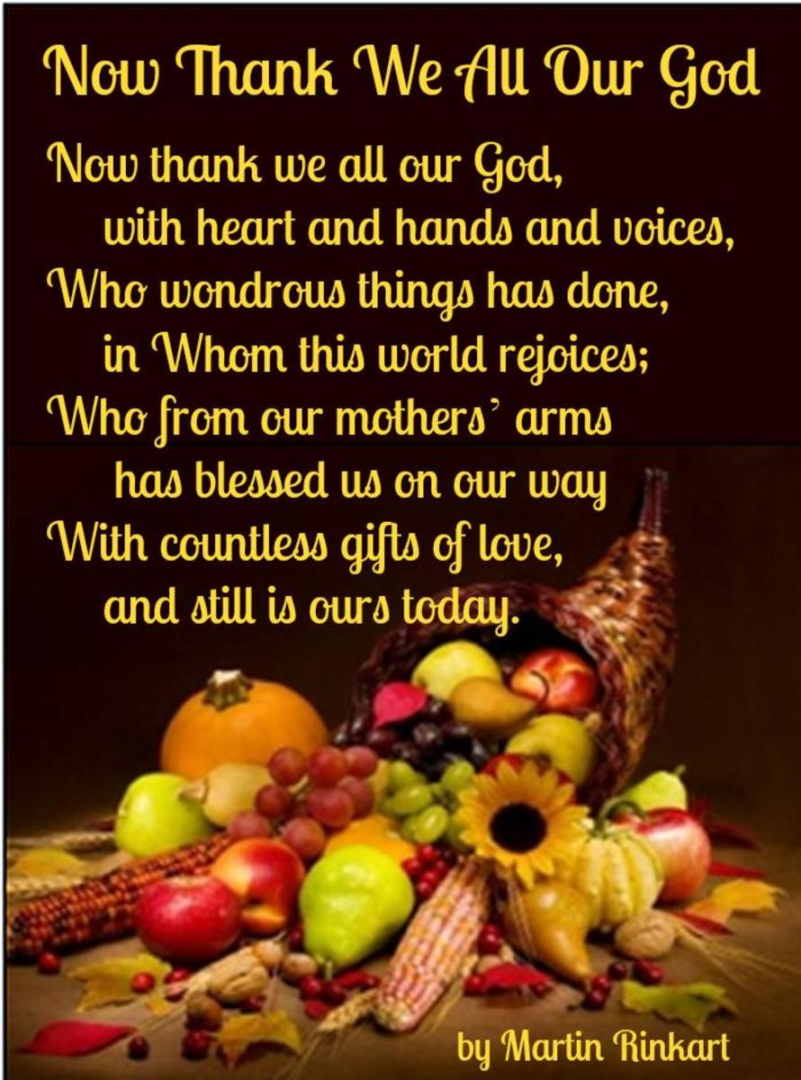 Now Thank We All Our God Poem by Martin Rinkart