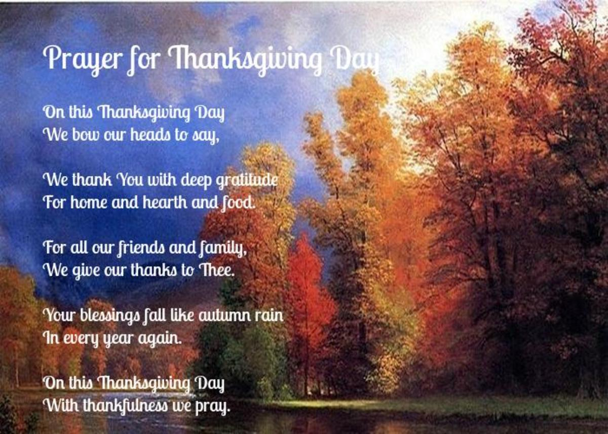 Prayer for Thanksgiving Day Poem