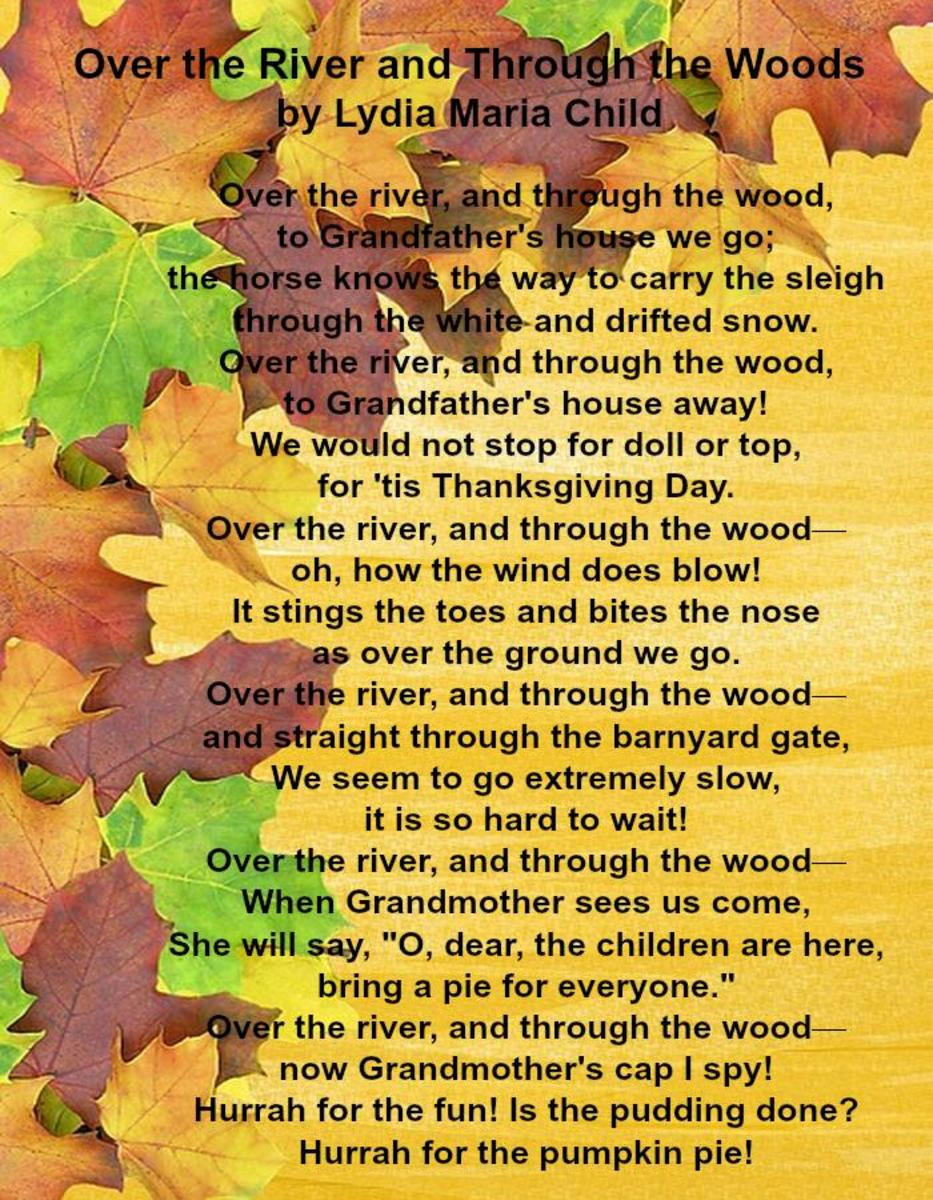 Over the River and Through the Woods Poem by Lydia Maria Child
