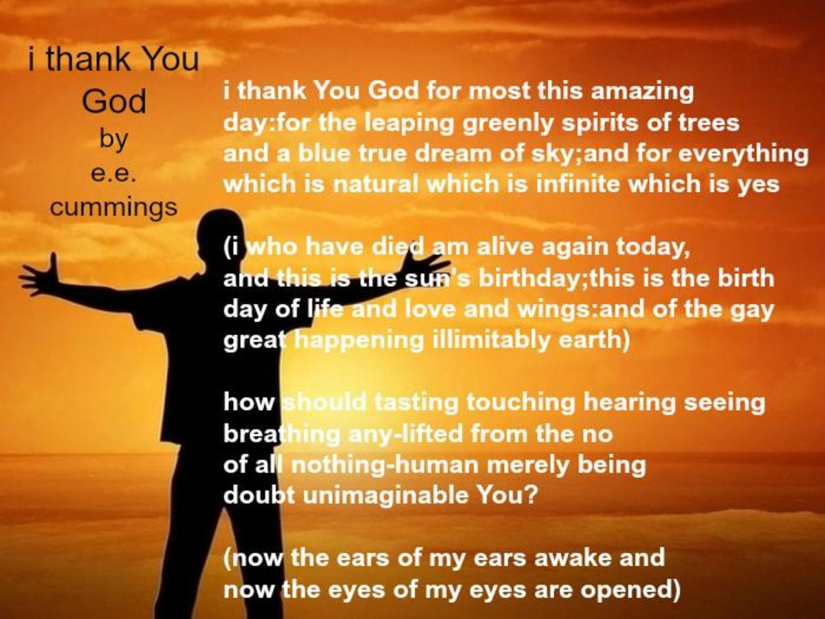'i thank You God' Poem by e. e. cummings