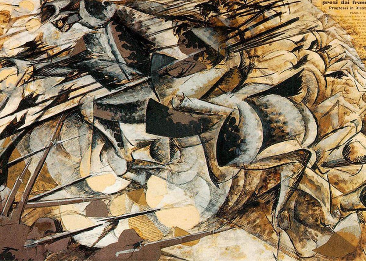 Umberto Boccioni, Charge of the Lancers (1915), Milano Museo del Novecento