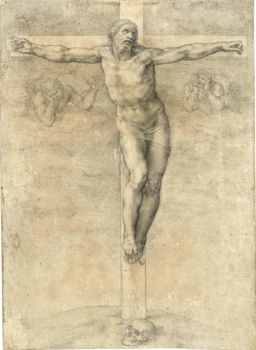 Michelangelo, Crucifixion (a. 1545), Paris Louvre