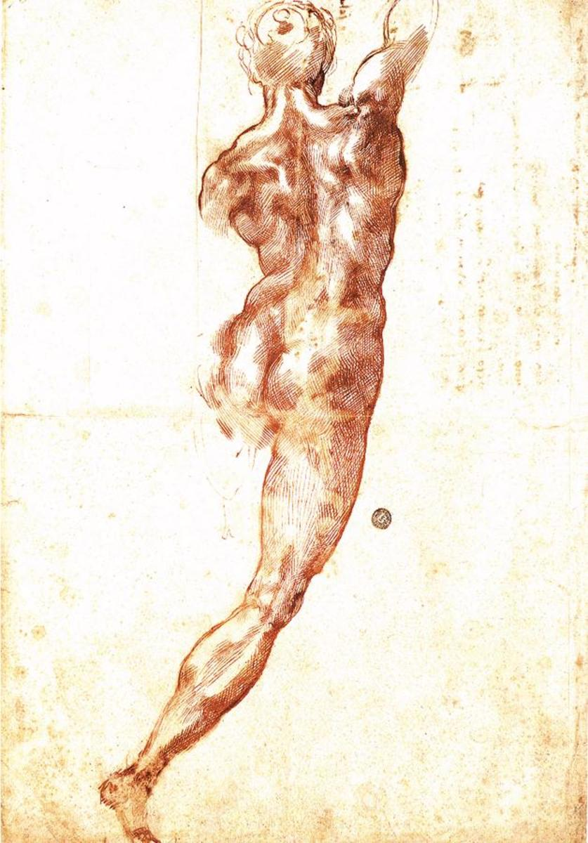Michelangelo, Study of a Man for the Battle of Cascina (a. 1504)