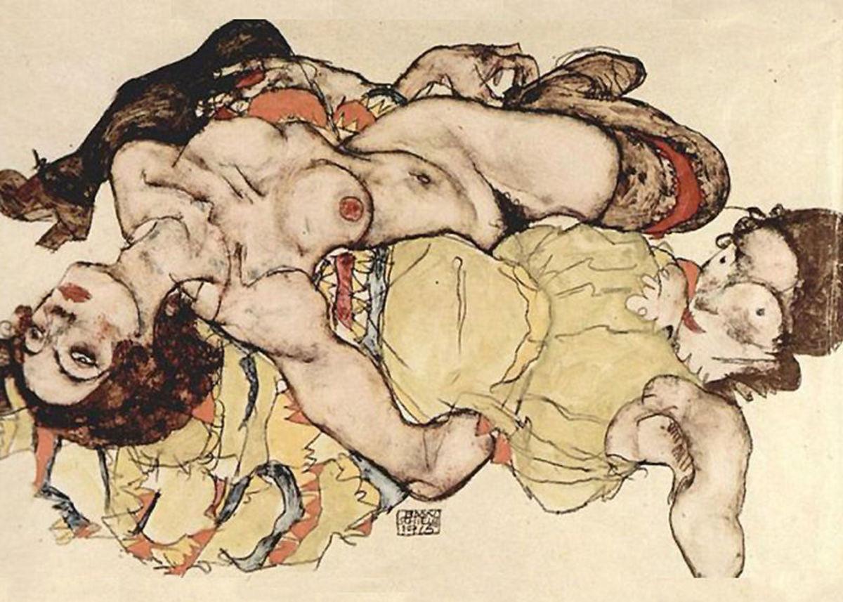 Egon Schiele, Two Women (1915)