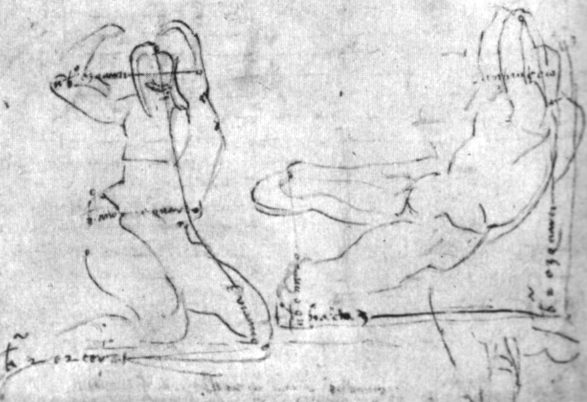 Michelangelo, Study for a Fluvial God (a. 1525), London British Museum