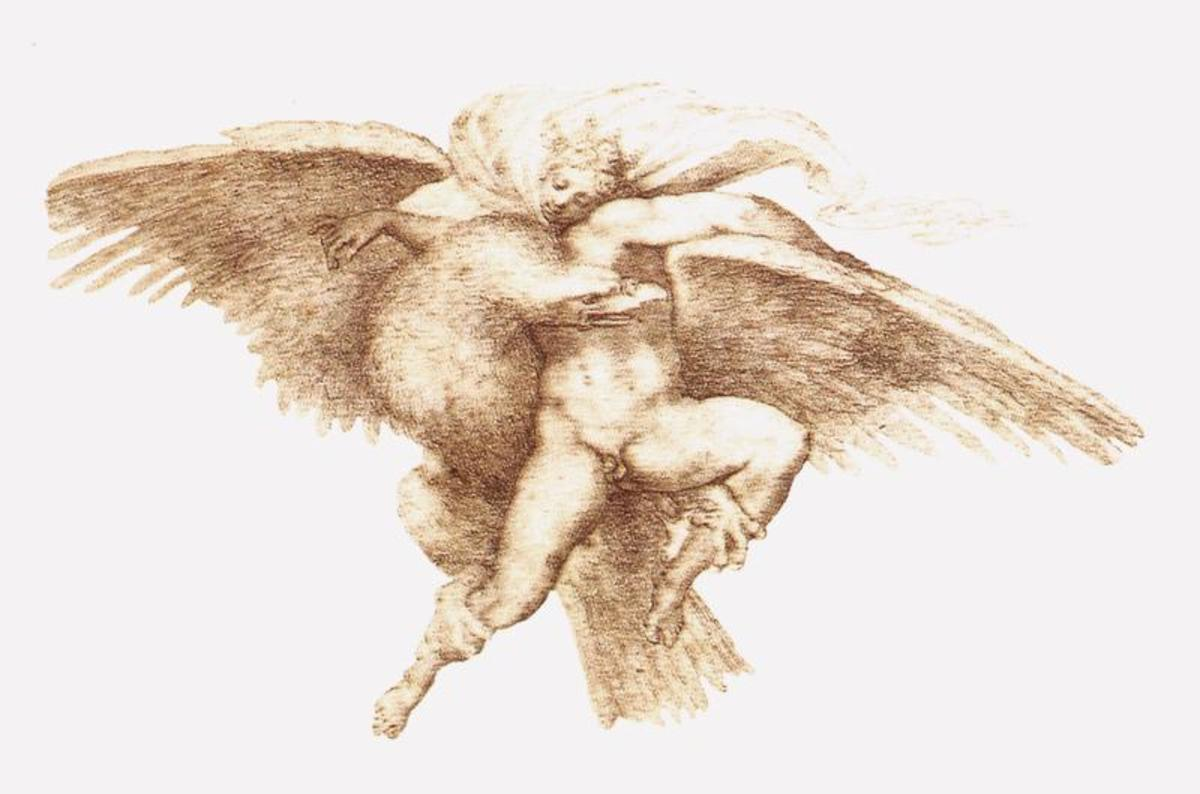 Michelangelo, Rape of Ganymede (1532), Cambridge Fogg Art Museum