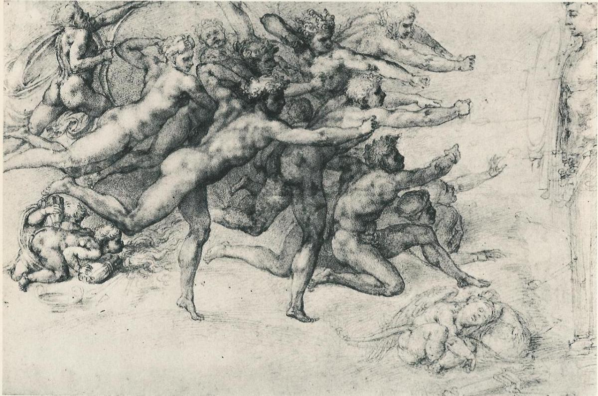 Michelangelo, Archers (a. 1533), Windsor Royal Library