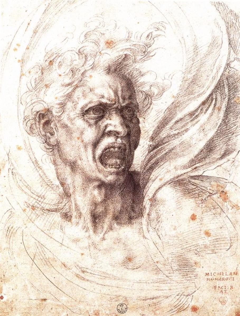 Mihelangelo, Damned Soul, Florence Uffizi