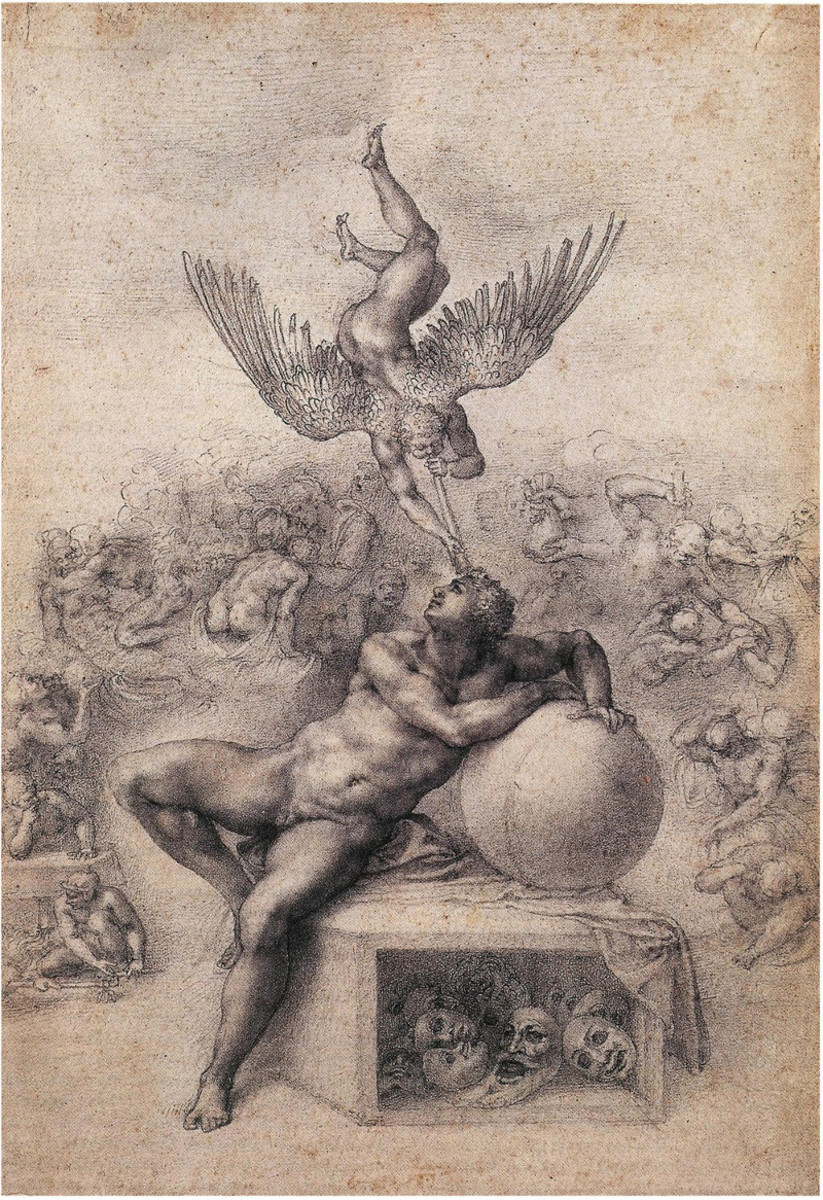 Michelangelo, Dream of the Human Life (a. 1533), London Courtauld Institute