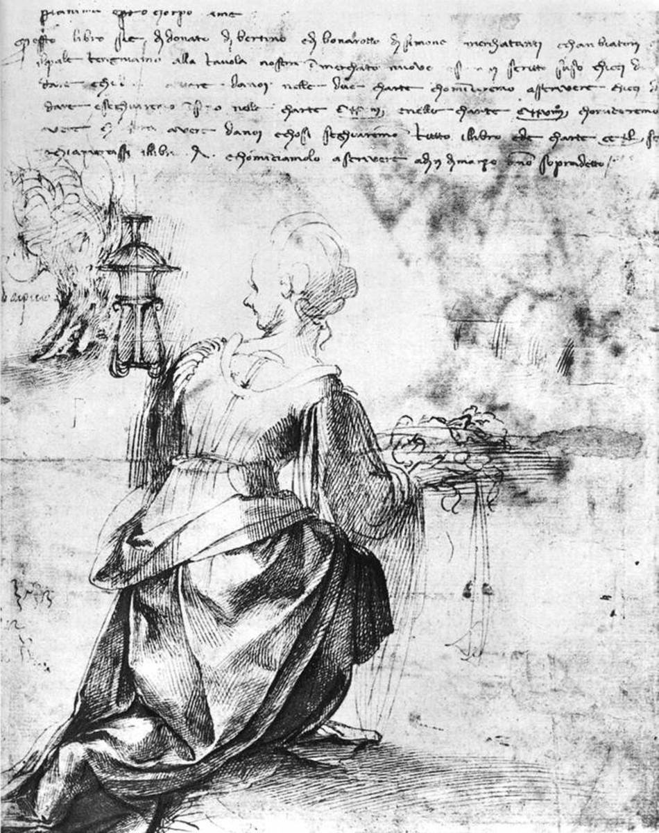 Michelangelo, Back View of a Woman (1520 ?), Paris Louvre