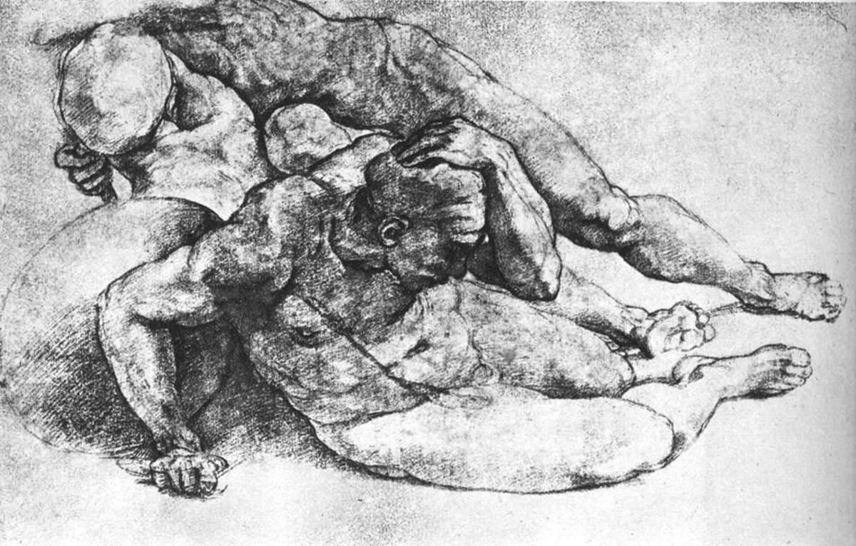 Michelangelo, Male Figures (a. 1530), Paris Louvre