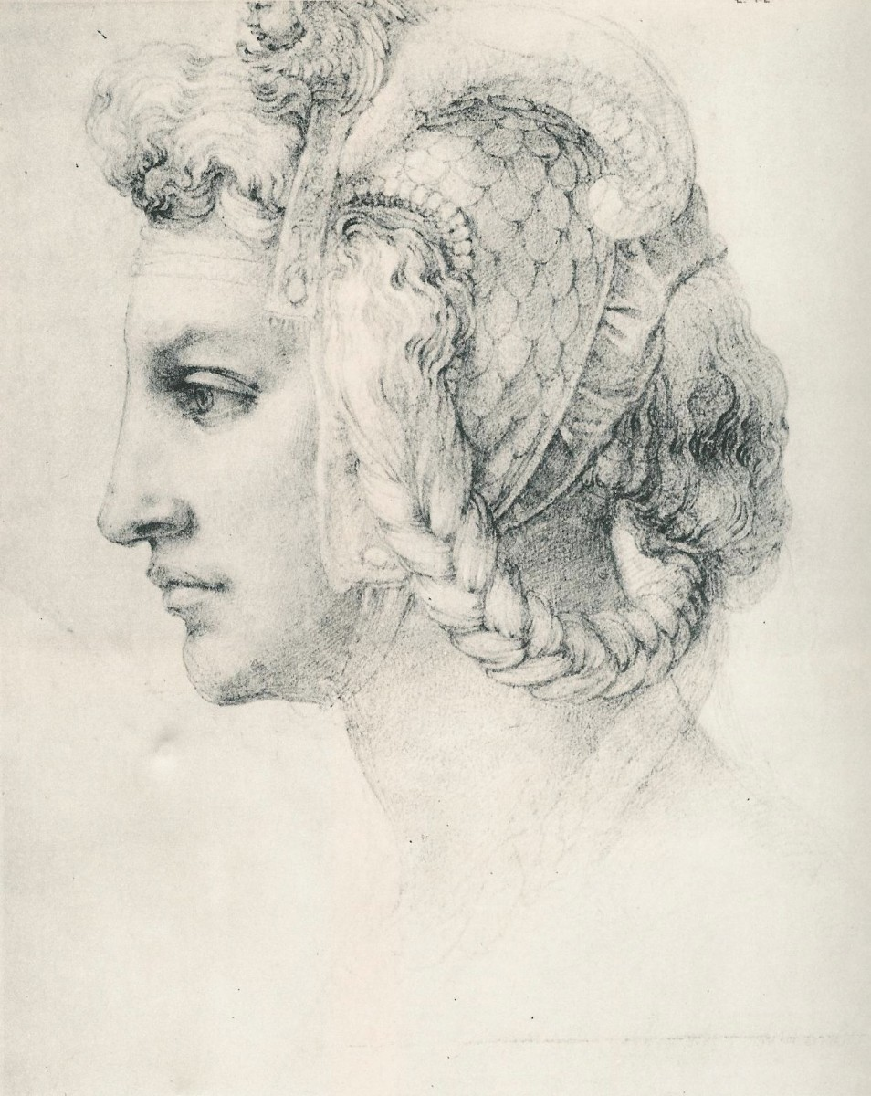 Michelangelo, Ideal Head of a Woman, London British Museum