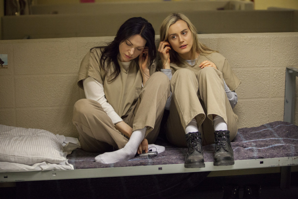 Alex Vause (Laura Prepon) and Piper Chapman (Taylor Schilling)