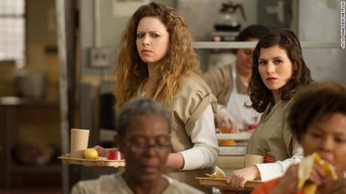 Nicky Nichols (Natasha Lyonne) and Lorna Morello (Yael Stone)