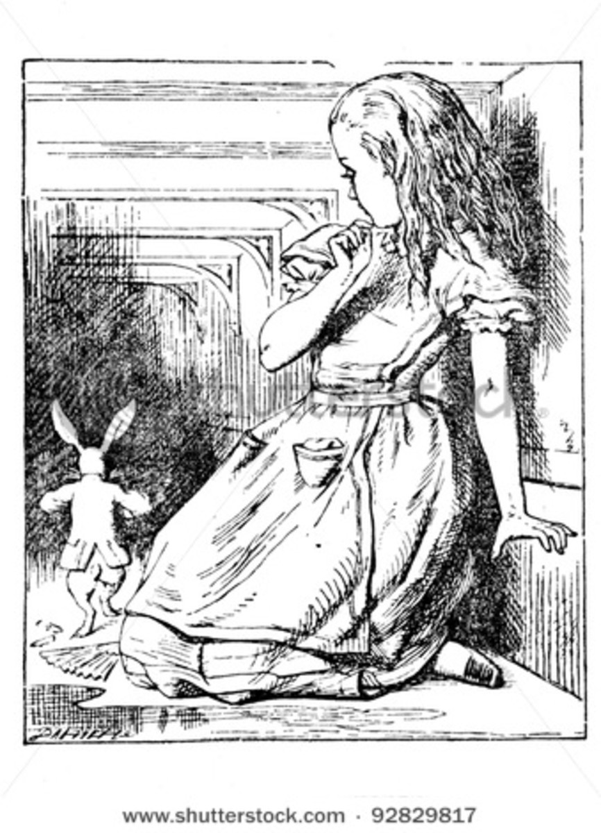 Alice and the Rabbit, Sir John Tenniel